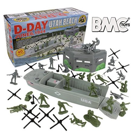 Ww2 Armed Forces - BMC WW2 D-Day Plastic Army Men - Utah Beach 40pc Soldier Figures Playset