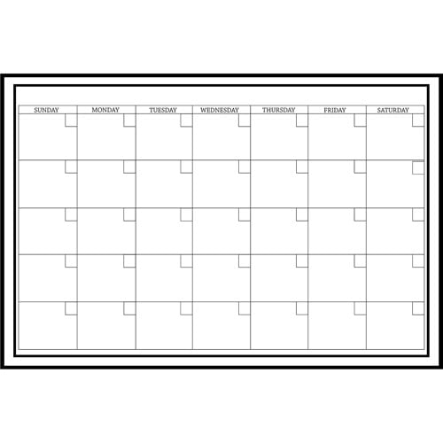 Wall Pops!  Dry Erase Calendar Decal Monthly - White