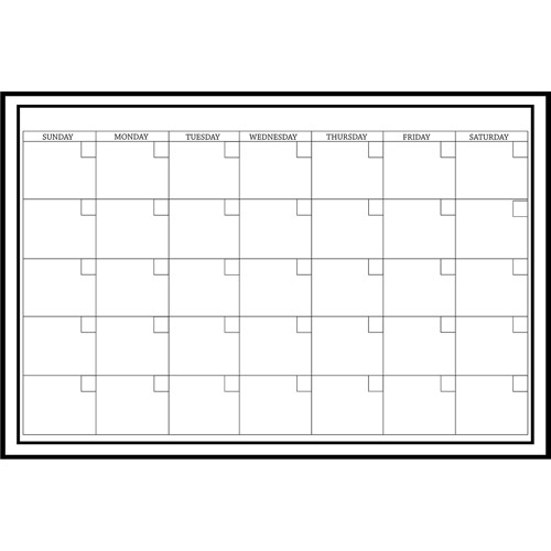 "WallPops! Whiteboard Dry Erase Monthly Calendar, 24"" x 36"""