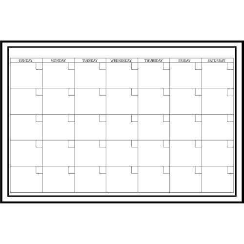 "WallPops! Whiteboard Dry Erase Monthly Calendar, 24"" x 36"