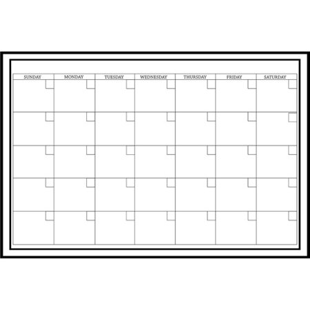 WallPops Large White Monthly Dry Erase Calendar Decal ()
