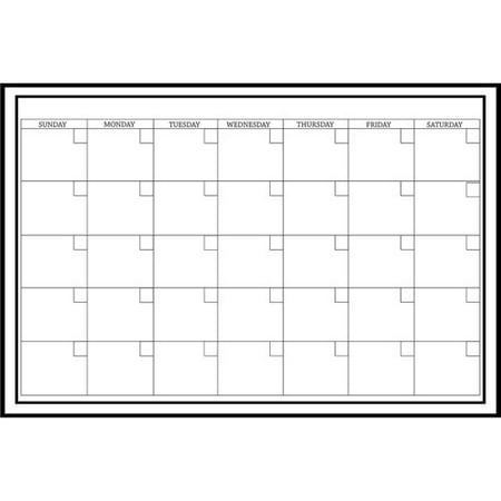 WallPops Large White Monthly Dry Erase Calendar Decal ...
