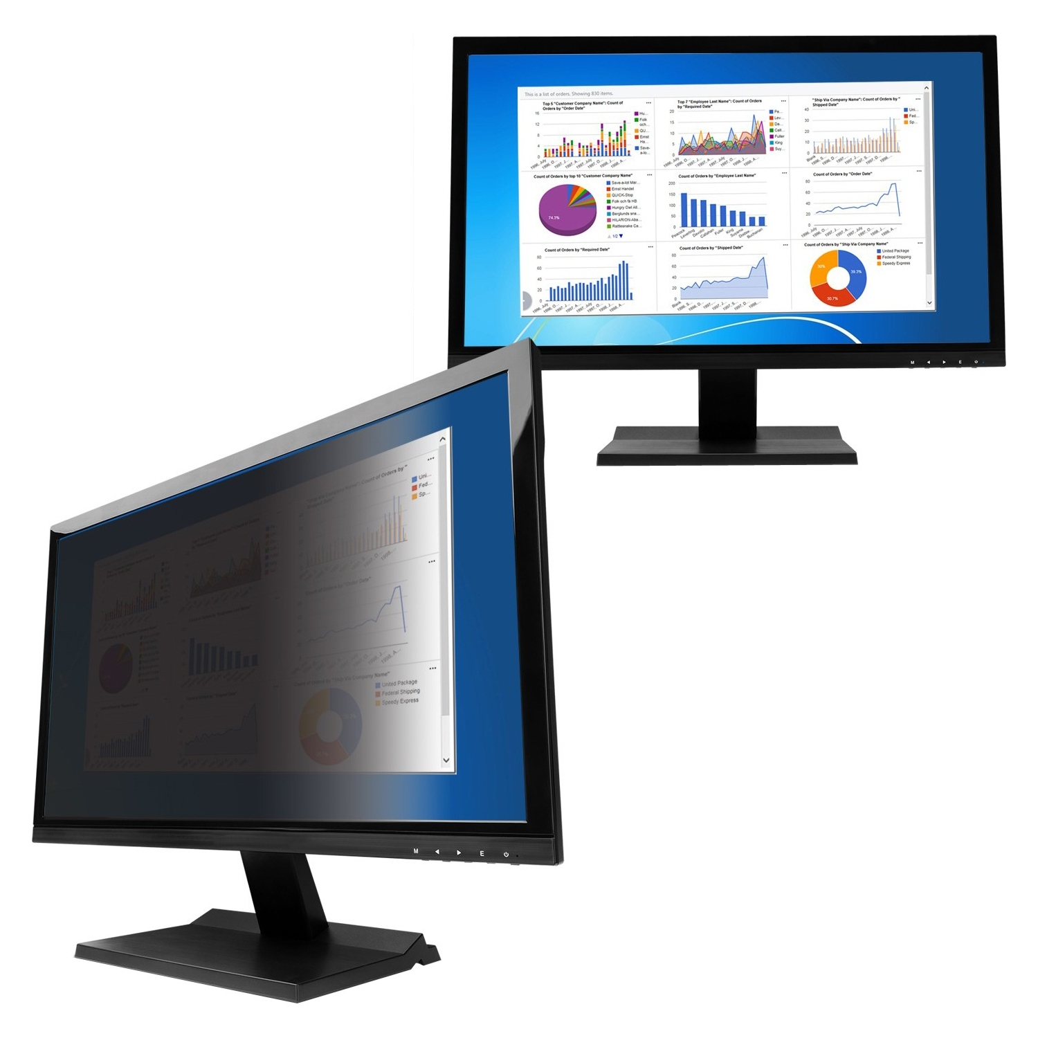 "V7 PS20.0W9A2-2N Privacy Screen Filter - For 20""LCD Monitor"
