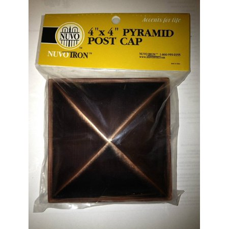 Nuvo Iron Decorative Pyramid Aluminium Post Cap for 3 5