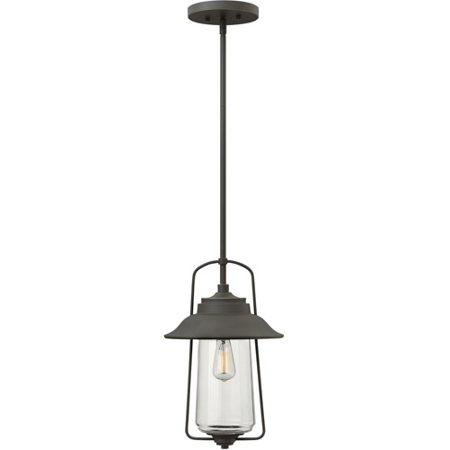 Bronze Large Outdoor Pendant (Outdoor Pendant 1 Light With Oil Rubbed Bronze Clear Solid Aluminum Medium Base 10 inch 100 Watts)