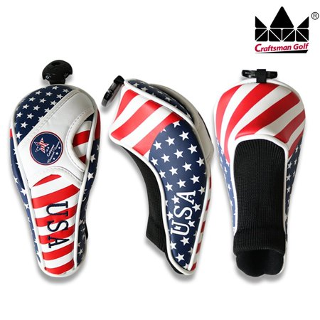 Utility Headcover - Craftsman Golf utility cover UT hybrid headcover Stars and Stripes American flag 1PCS