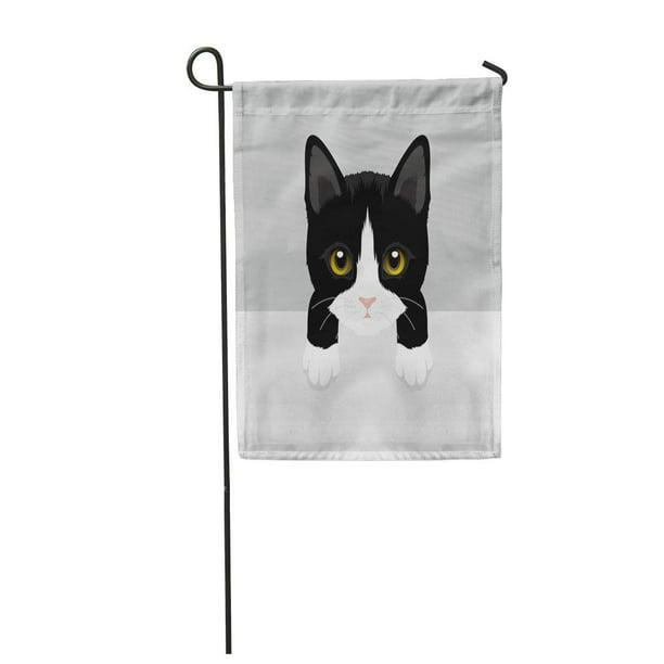 Laddke Cat Tuxedo Kitty Baby Beautiful, Tuxedo Cat Garden Flags
