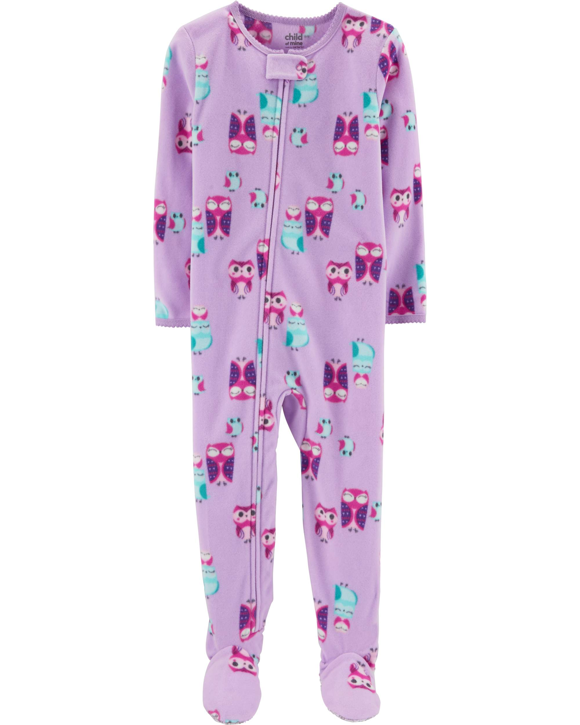 Microfleece Footed Blanket Sleeper (Baby Girls & Toddler Girls)