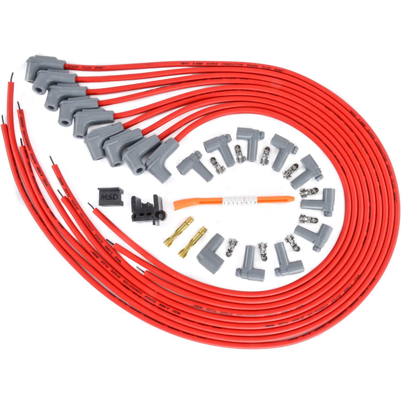 MSD 31369 8.5mm Super Conductor Spark Plug Wire Set