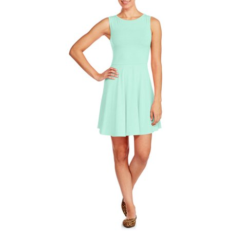Aqua Blues Juniors Fit And Flare Dress Walmart Com