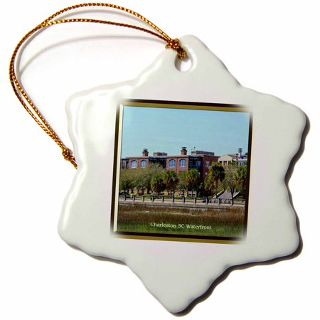 3dRose Charleston SC Waterfront - Snowflake Ornament, 3-inch](Halloween Parties Charleston Sc)
