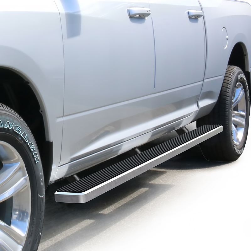 2004-2008 Ford F-150 SuperCrew Cab (Excl. 04 Heritage Edition) 4 Inch Brushed iStep Side Step