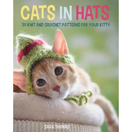 Cats in Hats : 30 Knit and Crochet Hat Patterns for Your (Leaf Knitting Pattern)