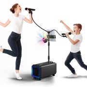 AMASING Karaoke Machine with 2 Wireless Microphones, Bluetooth Speaker System - Lento X5