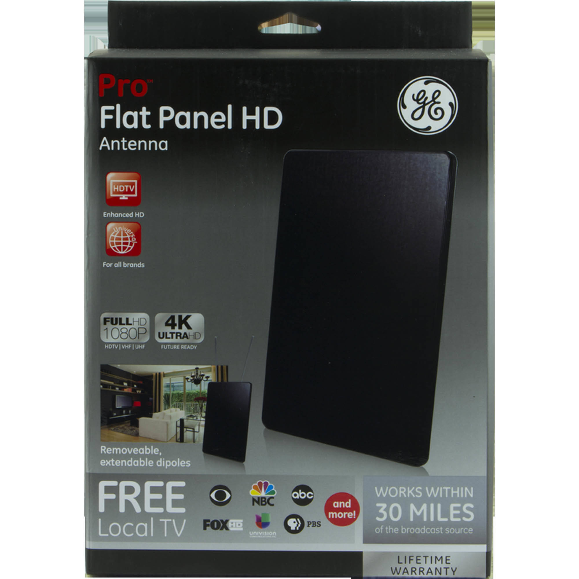 ge pro flat panel hd antenna - walmart