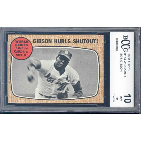 1968 topps #154 BOB GIBSON ws game 4 BGS BCCG