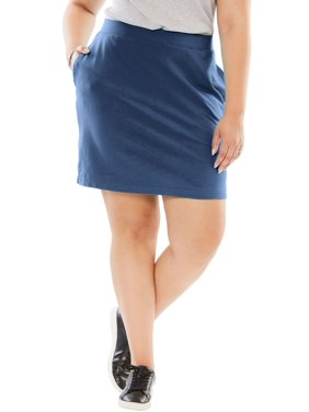 346a4406b11 Product Image Woman Within Plus Size Stretch Cotton Skort