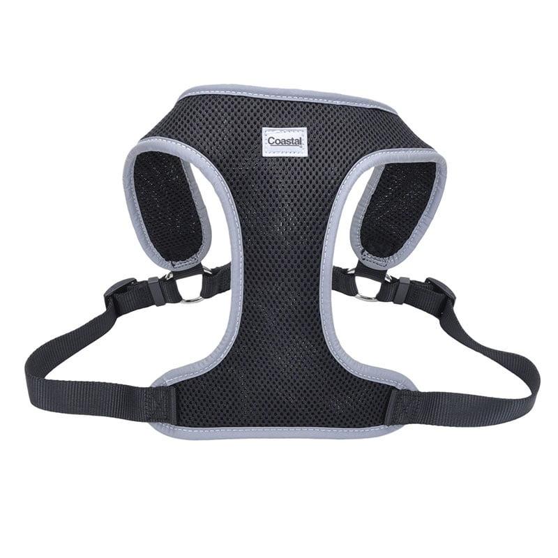 Coastal Pet Comfort Soft Reflective Wrap Adjustable Dog Harness - Black Large - 28-36 Inch Girth - (1 Inch Straps)