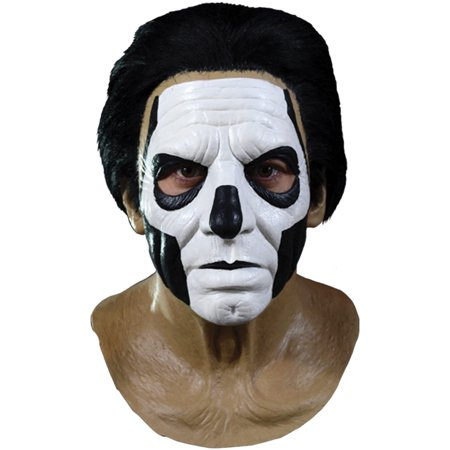 Ghost Papa III Standard Full Head Mask, Brown Black White, One-Size - Papa Emeritus Mask