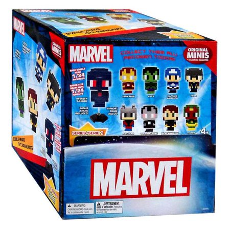 Marvel Original Minis Pixelated Heroes Series 1 Bobble Head Mystery Box