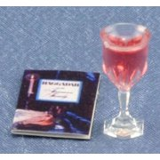 Dollhouse Haggadah W/Glass Of Wine