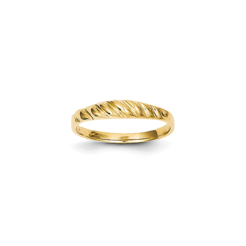 14k Yellow Gold Satin Valley Dome Ring
