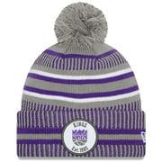 Sacramento Kings New Era Team Sport Cuffed Knit Hat with Pom - Gray - OSFA