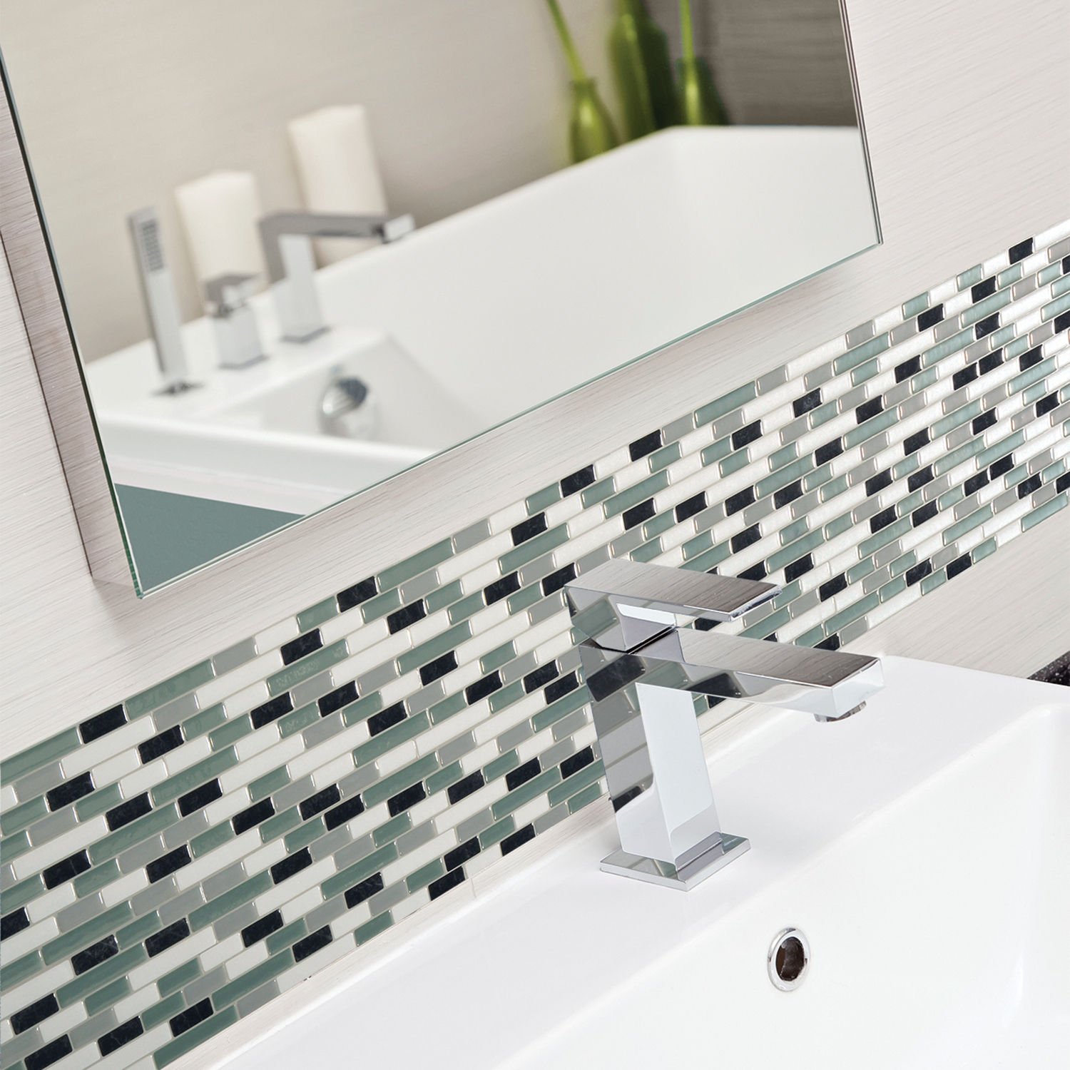 Smart Tiles 1020 In X 910 In Peel And Stick Self Adhesive Mosaic