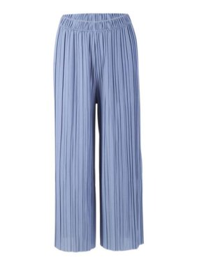 2f01b900c Babula Women Wide Leg Pants Pleated Elastic Waist Casual Baggy Trousers