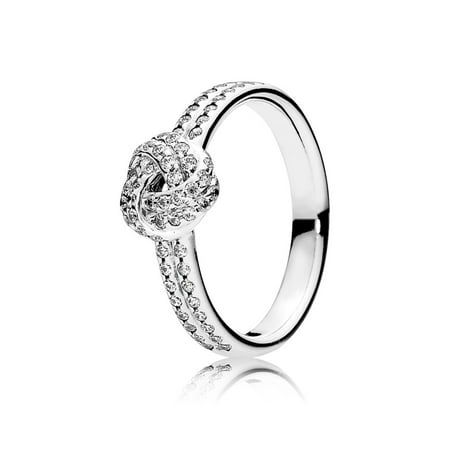 Ring Sparkling Love Knot w/Clear CZ Ring sz 60 190997CZ-60
