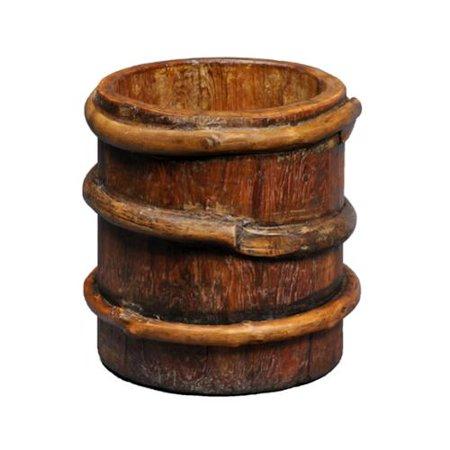 Antique Revival Large Tibetan Wood Milk Bucket Walmartcom