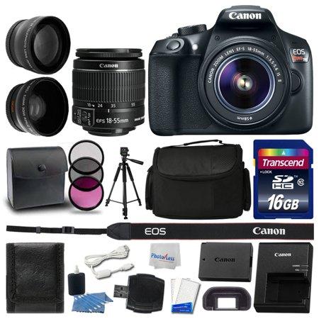 Canon EOS Rebel T6 DSLR Camera 18-55mm + 16GB + Great Value
