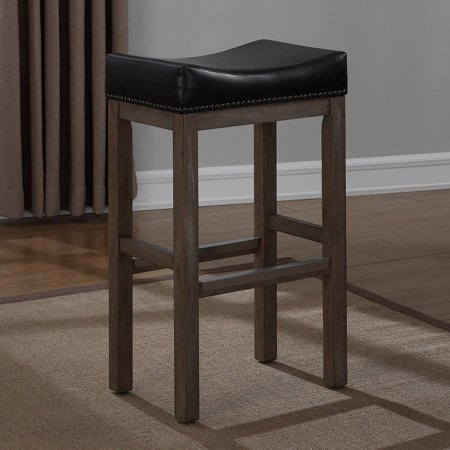 American Woodcrafters Walker Creek Saddle Seat Bar Stool