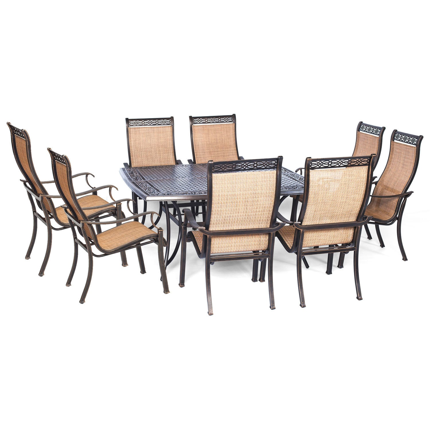 Overstock Cambridge Outdoor Legacy 9 - piece Dining Set With Large Square Table,