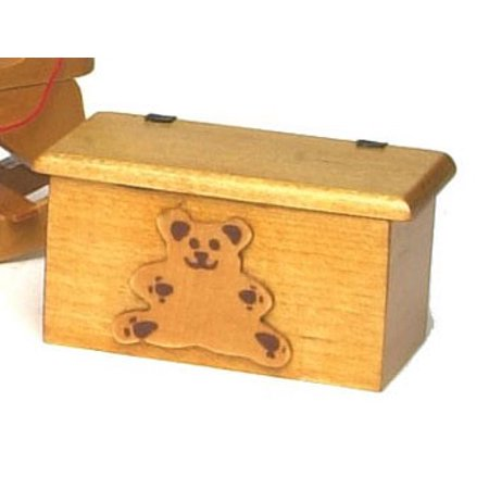 Dollhouse Small Bear Toy Box (Miniature Storage)