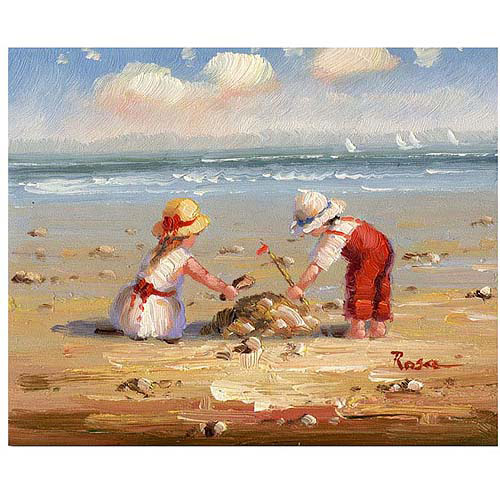 "Trademark Fine Art ""At the Beach IV"" Canvas Art, 26x32"