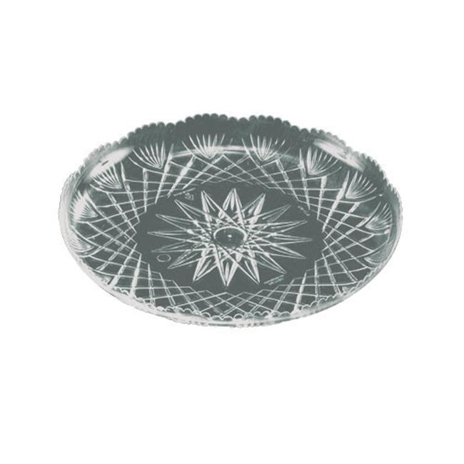 EMI Yoshi EMI-PT12C 12 inch Prisms Collection Clear Crystal Tray - Pack of 25
