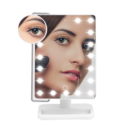 20 Leds Makeup Mirror with light and Magnifier for Tabletop Led Makeup Mirror