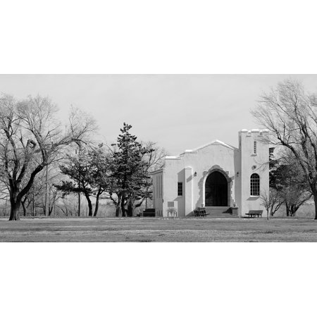 - Peel-n-Stick Poster of Fort Reno Historical Chapel Historic Oklahoma Poster 24x16 Adhesive Sticker Poster Print