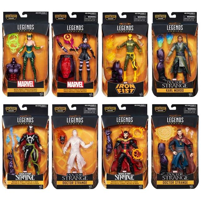Hasbro HSBB7439 6 in. Doctor Strange Marvel Legends Figure, Assorted Colors Set of 8 by Hasbro