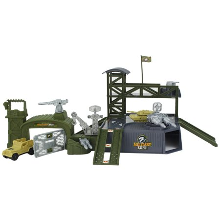 Toy High Army Special Forces Unit Base with 2 Military Vehicles, Military Jeep and Combat Tank!