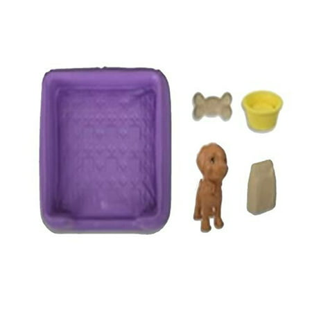 Barbie Dreamhouse - Replacement Dog, Bowl, Bed, Bone and Food Bag FHY73