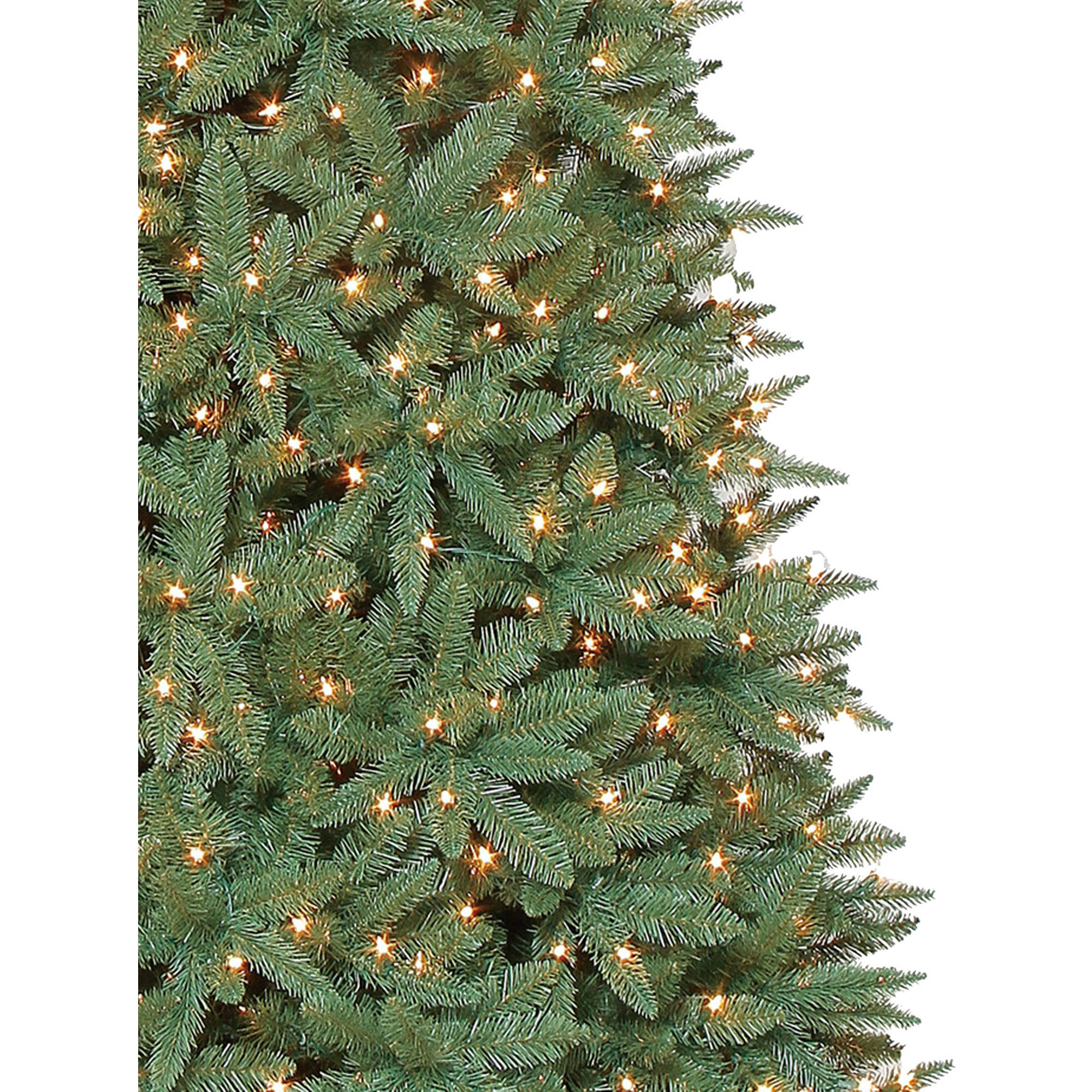 holiday time prelit 12u0027 williams pine artificial christmas tree clear lights walmartcom