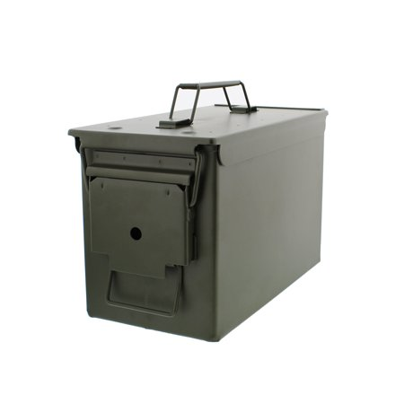 Metal Ammo Can – Military Steel Box Shotgun Rifle Nerf Gun Ammo Storage ()
