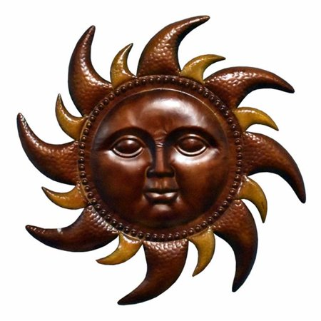 Vivacious Metal Sun Wall Decor , - Metal Sun Sculpture