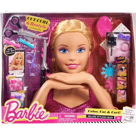 Barbie Color, Cut and Curl Styling Head, Blonde