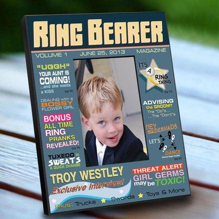 Personalized Ring Bearer Magazine Frame
