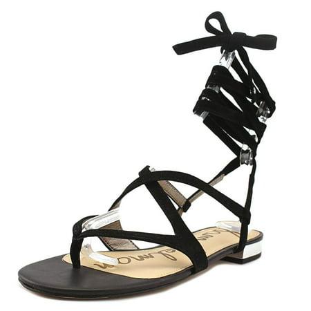 c761c129bcd5 Sam Edelman - Sam Edelman Davina Women Open Toe Suede Black Gladiator Sandal  - Walmart.com