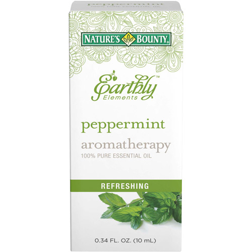 Nature's Bounty Earthly Elements Aromatherapy Peppermint 100% Pure Essential Oil, 0.34 fl oz