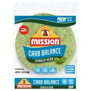 MISSION CARB BALANCE SPINACH 8CT